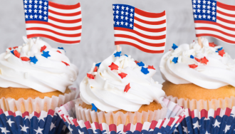 "Nothing says ""patriotism"" like cupcakes."